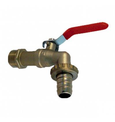"""Guľový ventil - 1/2"""" záhradný s nástavcom na hadicu 966 IVR"""