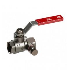"""Guľový ventil - 1/2"""" FF s odvodnením PN30"""