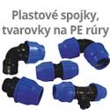 Plastové spojky a tvarovky na PE rúry